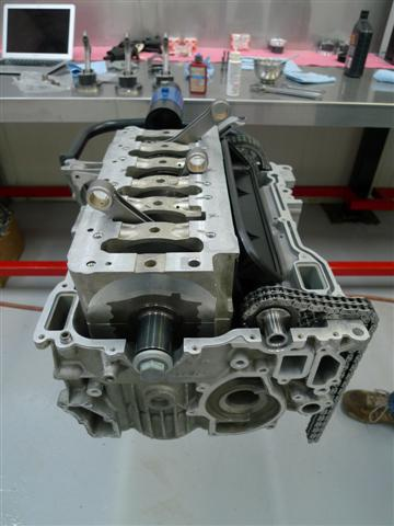 when the m96 engine was developed, for cost savings, one cylinder head  casting was made